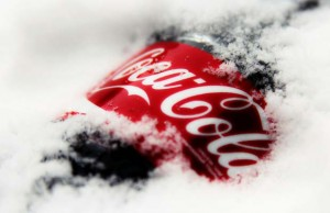 icy bottle of coca-cola