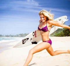 Rosy Hodge, sexy woman athlete, surfing