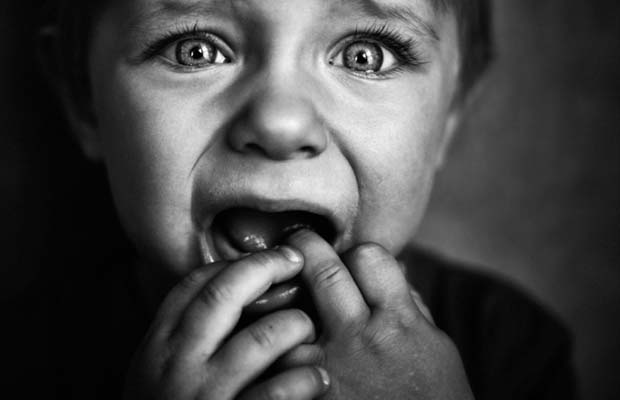 scared and worried child